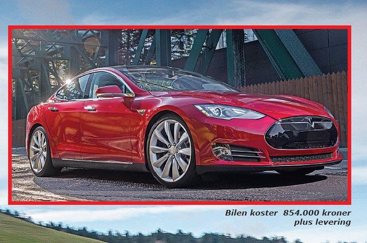 Tesla, super lækker el-bil med masser fart og luksus
