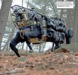 Terrængående robotdyr arbejder for USA's hær