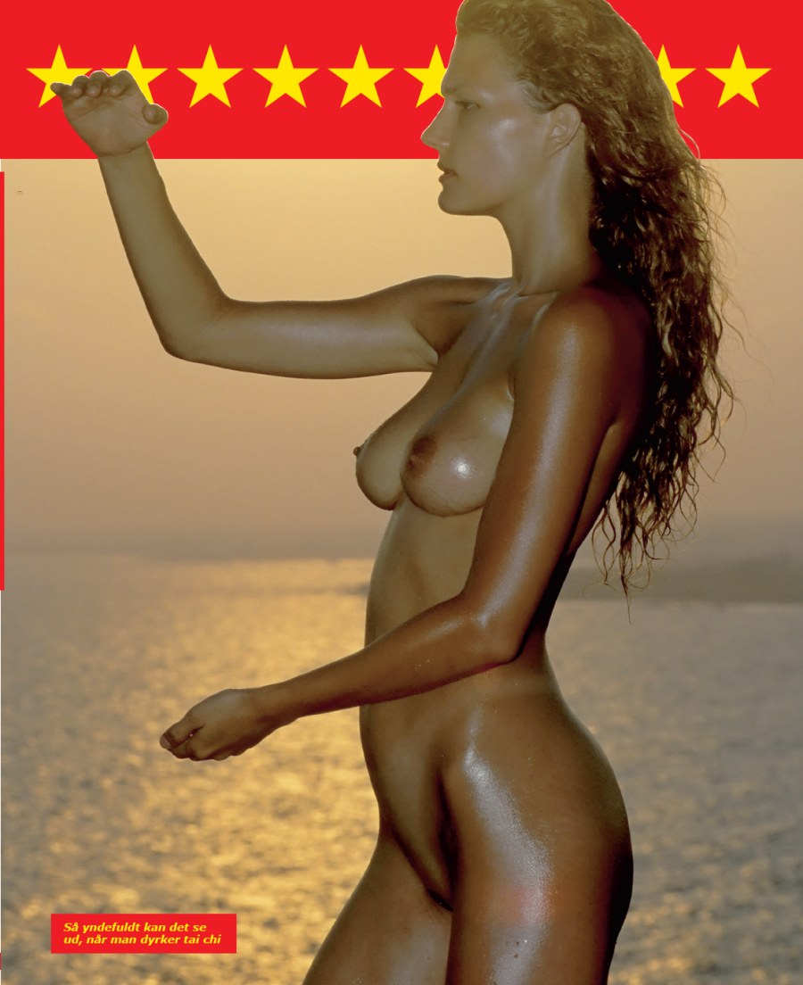 tai chi i helt nøgen figur