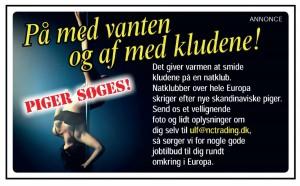 Stripperpiger søges til natklubber i udlandet