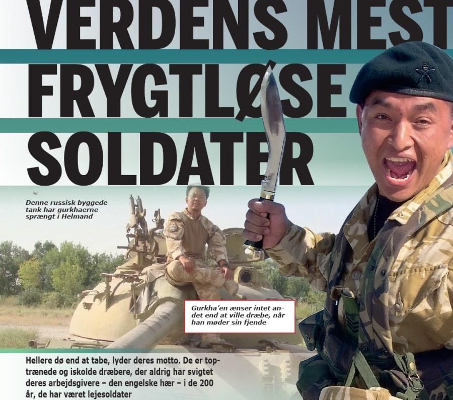 Frygtløse Gurkha soldater i Helman