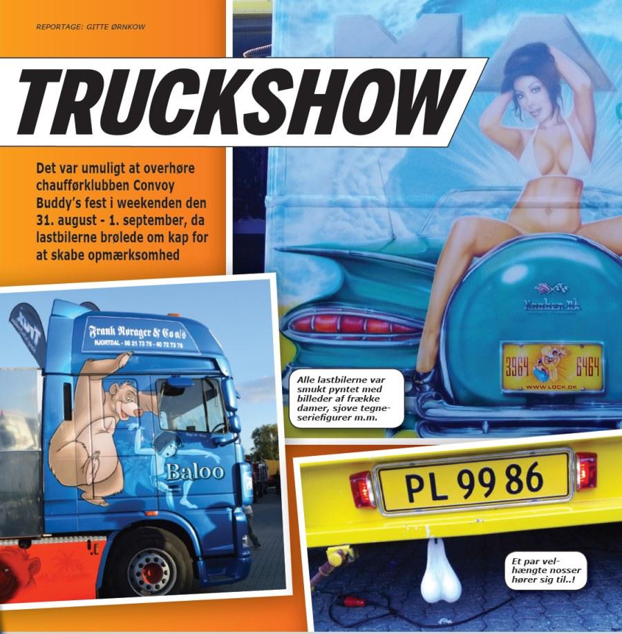 Stort Truckershow i Danmark